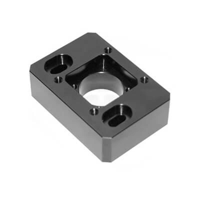 Black Anodized Aluminum 6061 Machine Parts
